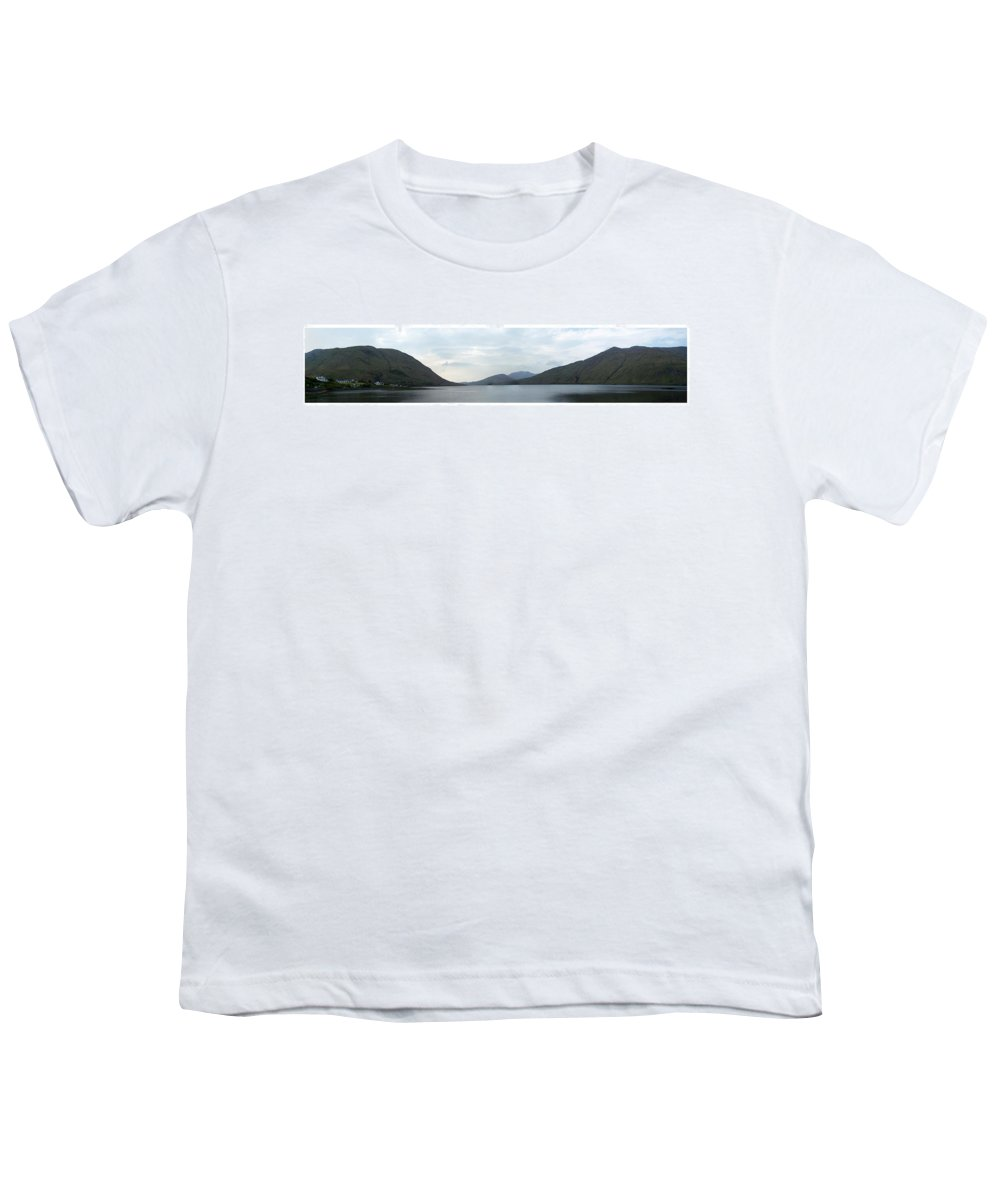 Landscape Youth T-Shirt featuring the photograph Killary Harbour Leenane Ireland by Teresa Mucha