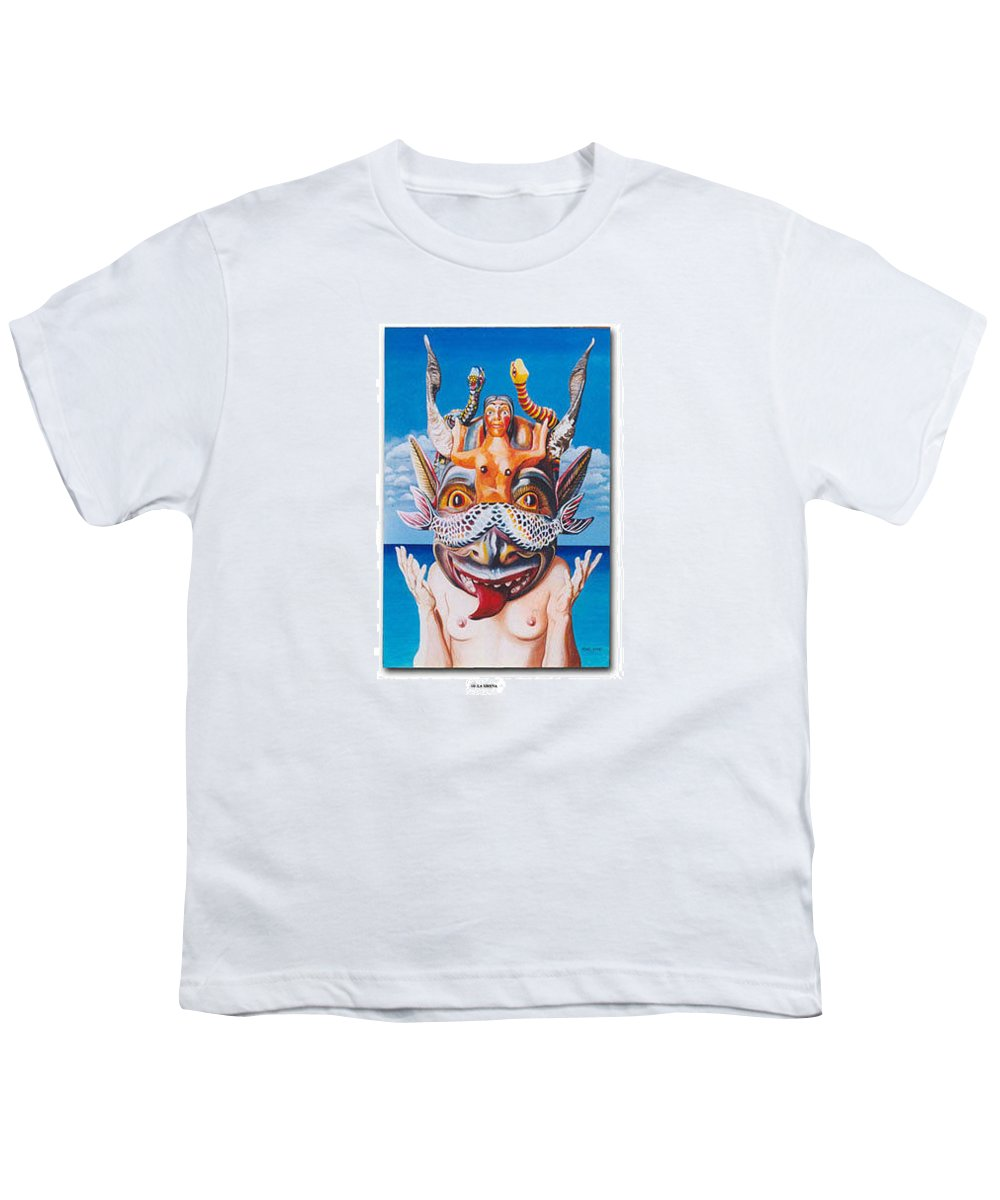 Hyperrealism Youth T-Shirt featuring the painting La Sirena by Michael Earney