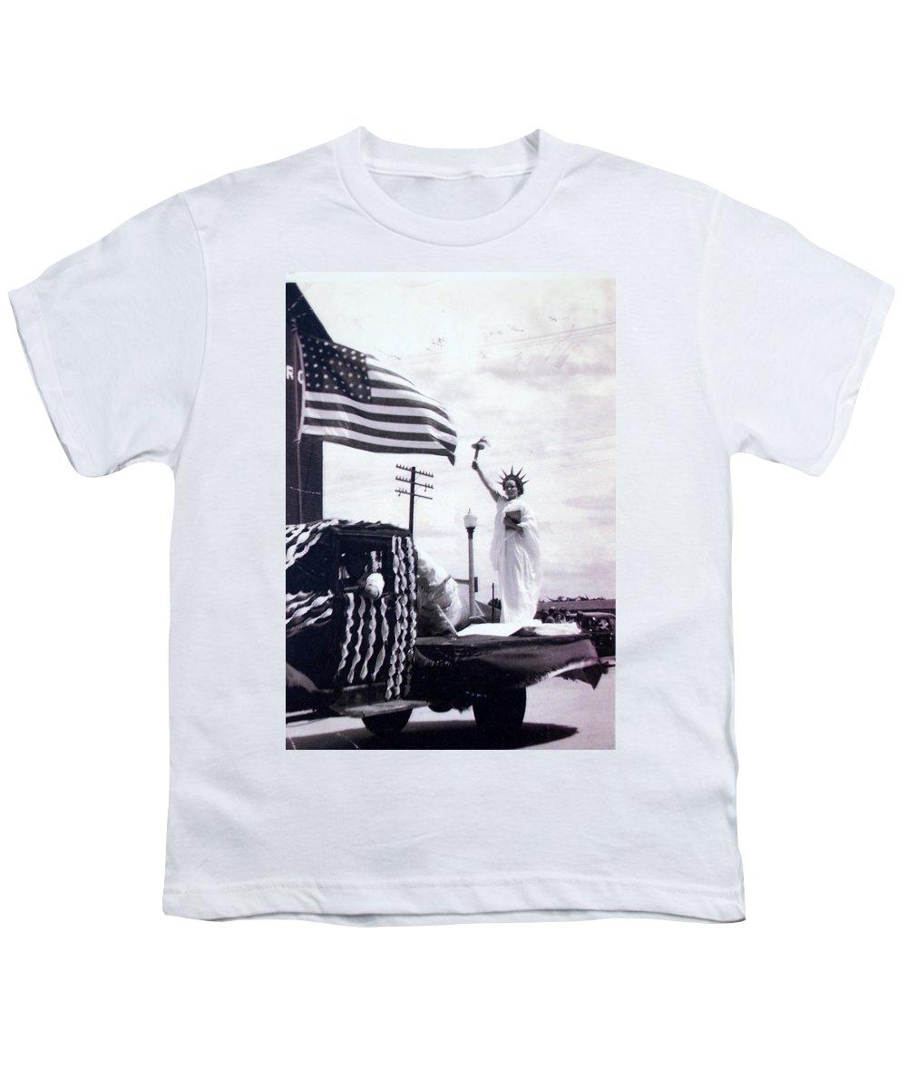4th Of July Youth T-Shirt featuring the photograph Lady Liberty by Kurt Hausmann
