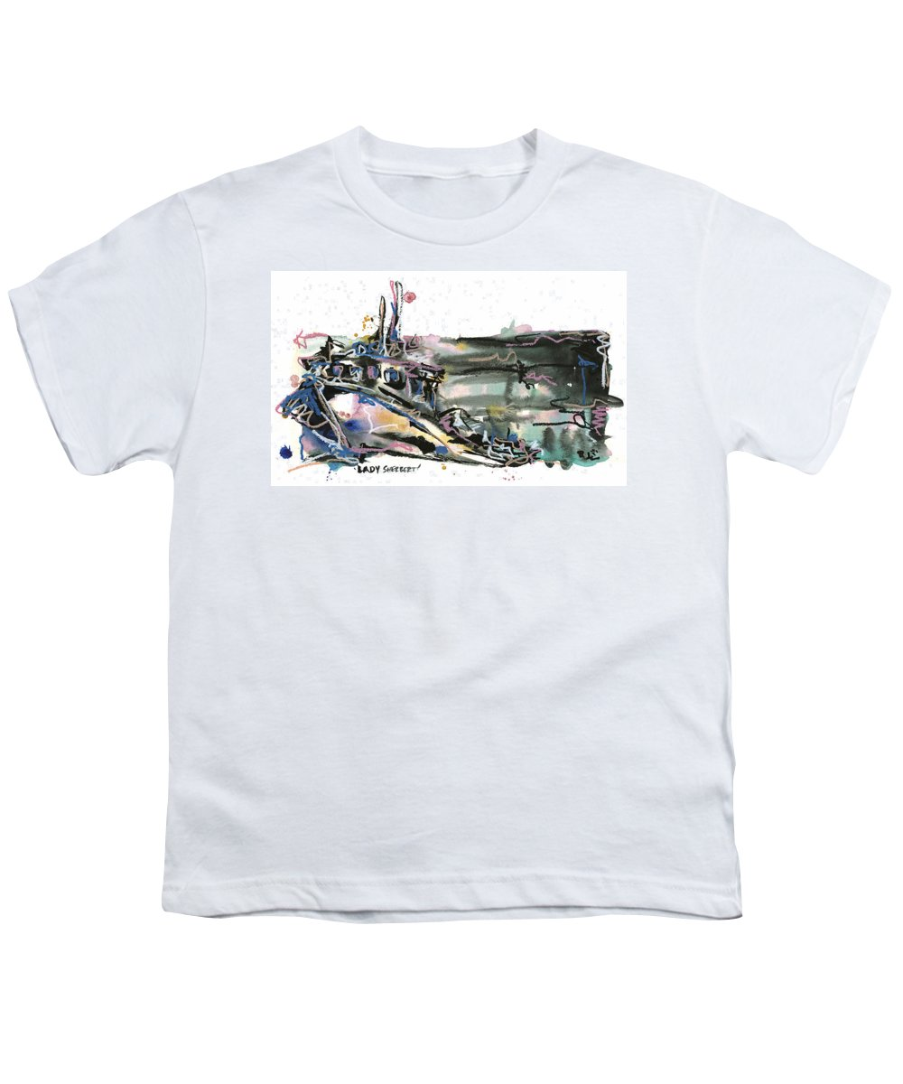 Seascape Youth T-Shirt featuring the painting Lady Sherbert by Robert Joyner