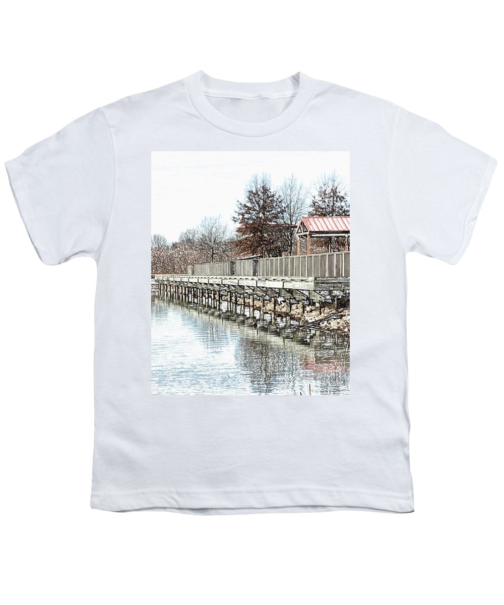 Lakes Youth T-Shirt featuring the photograph Lake by Amanda Barcon