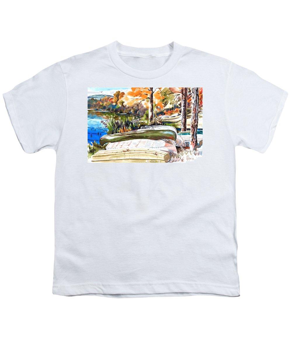 Last Summer In Brigadoon Youth T-Shirt featuring the painting Last Summer In Brigadoon by Kip DeVore