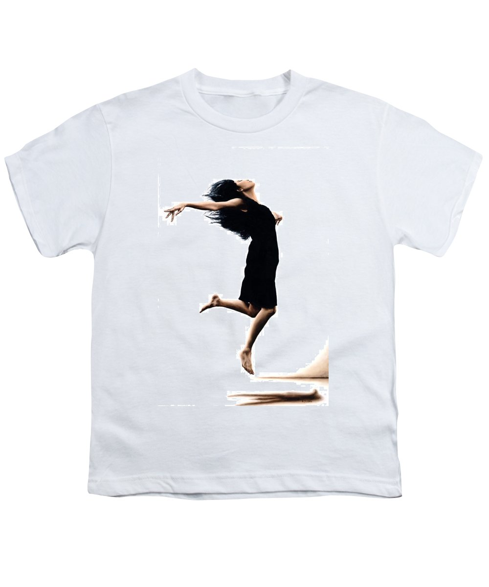Ballet Youth T-Shirt featuring the painting Leap Into The Unknown by Richard Young