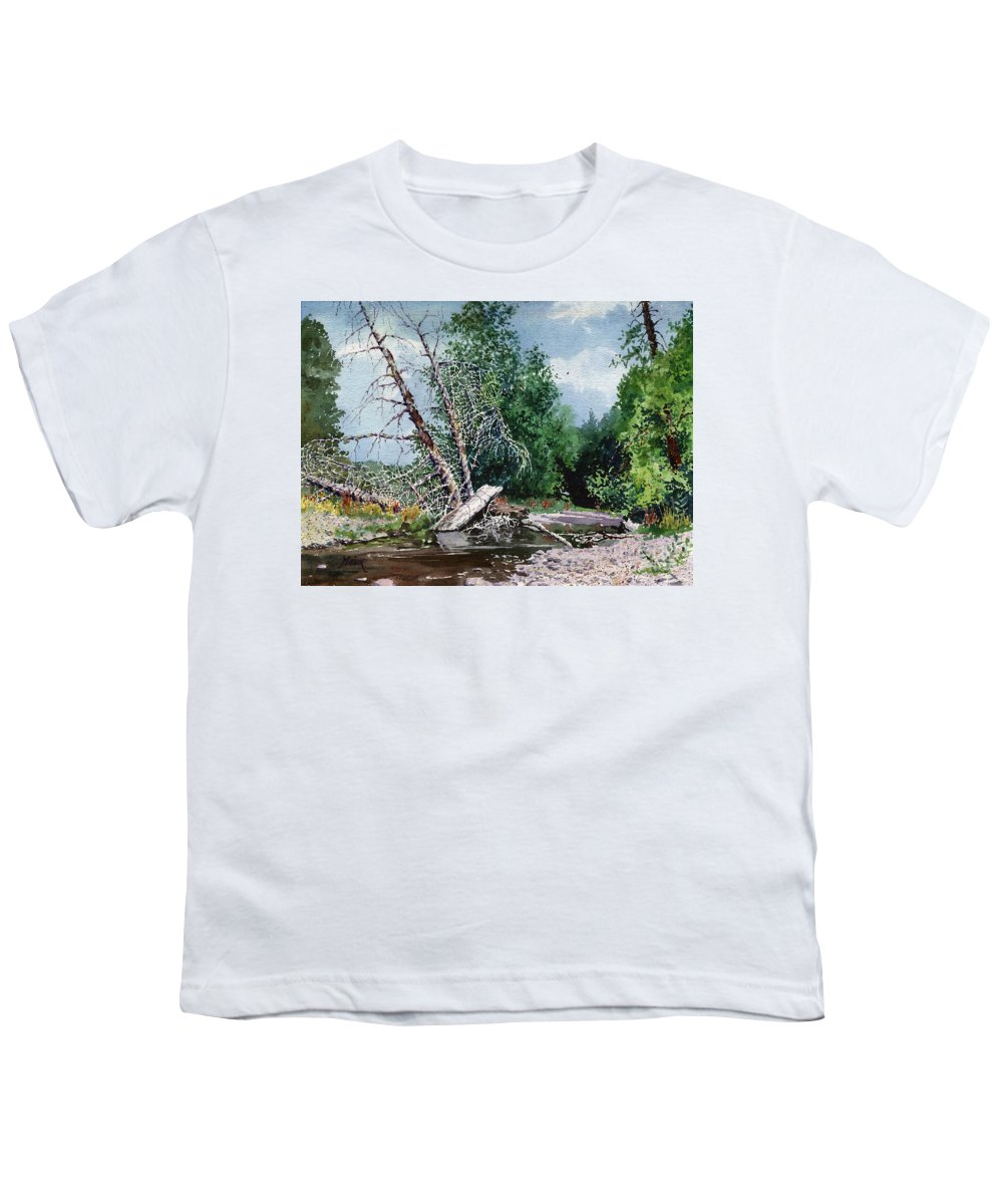 Washington State Youth T-Shirt featuring the painting Log Jam by Donald Maier