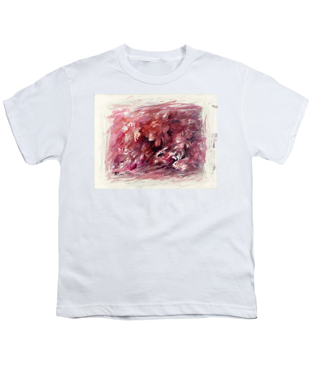 Floral Youth T-Shirt featuring the painting Melancholic Moment by Rachel Christine Nowicki