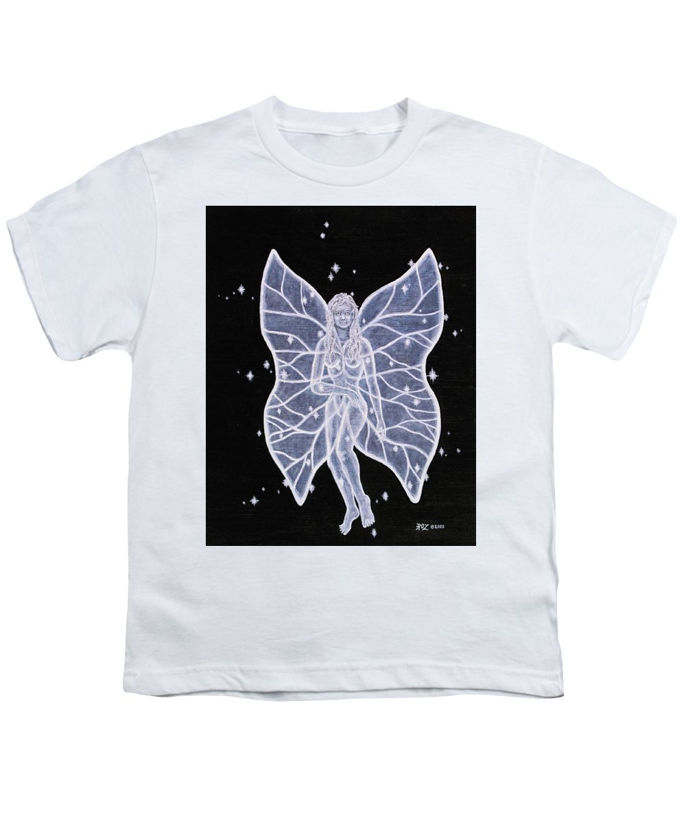 Fairy Youth T-Shirt featuring the painting Moon Fairy by Roz Eve