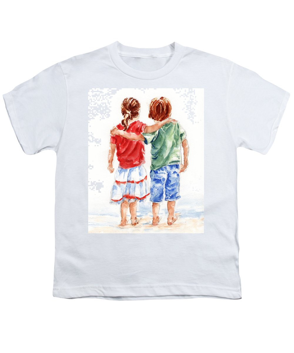 Watercolour Youth T-Shirt featuring the painting My Friend by Stephie Butler