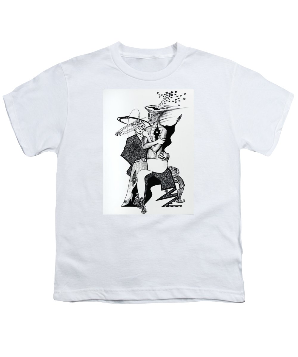 Love Youth T-Shirt featuring the drawing My Shadow And I by Yelena Tylkina