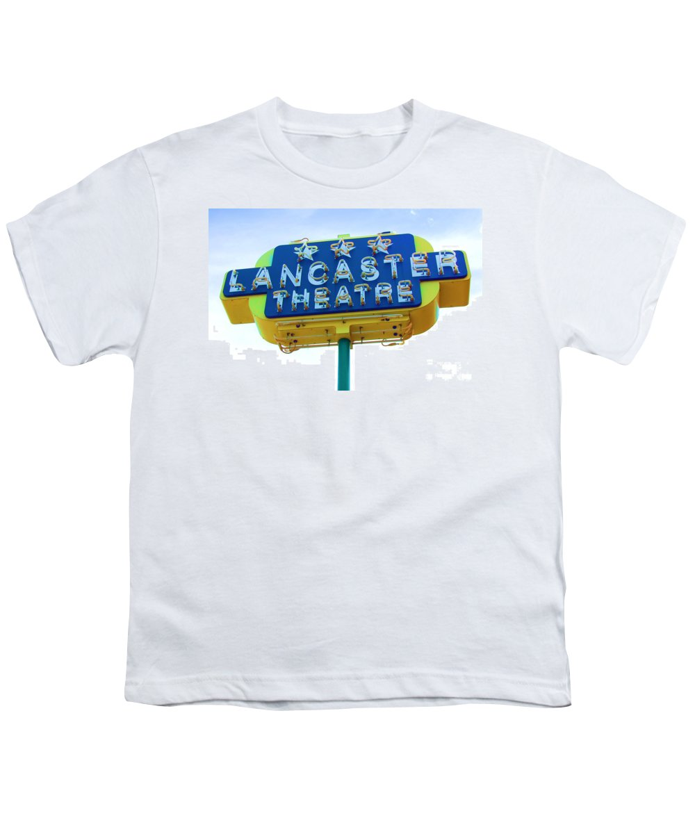 Sign Youth T-Shirt featuring the photograph Neon by Debbi Granruth