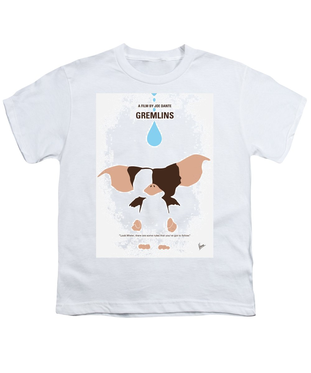 Gremlins Youth T-Shirt featuring the digital art No451 My Gremlins Minimal Movie Poster by Chungkong Art
