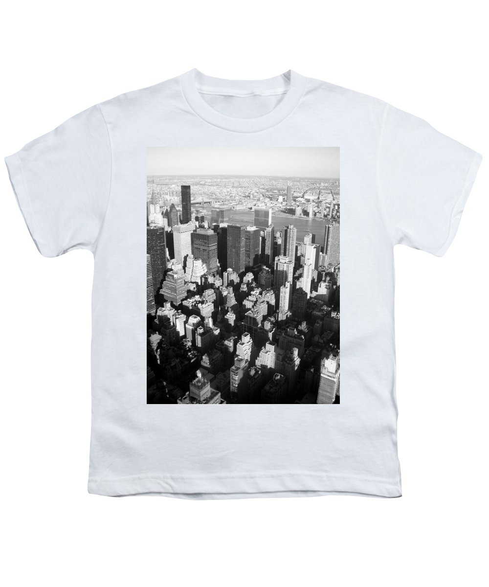 Nyc Youth T-Shirt featuring the photograph Nyc Bw by Anita Burgermeister