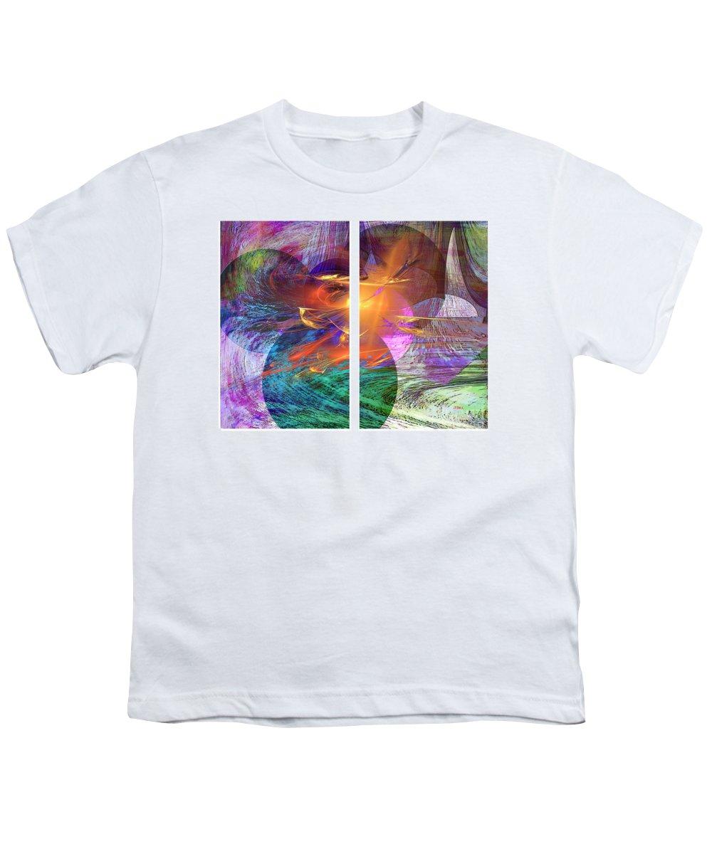 Ocean Fire Youth T-Shirt featuring the digital art Ocean Fire by John Beck