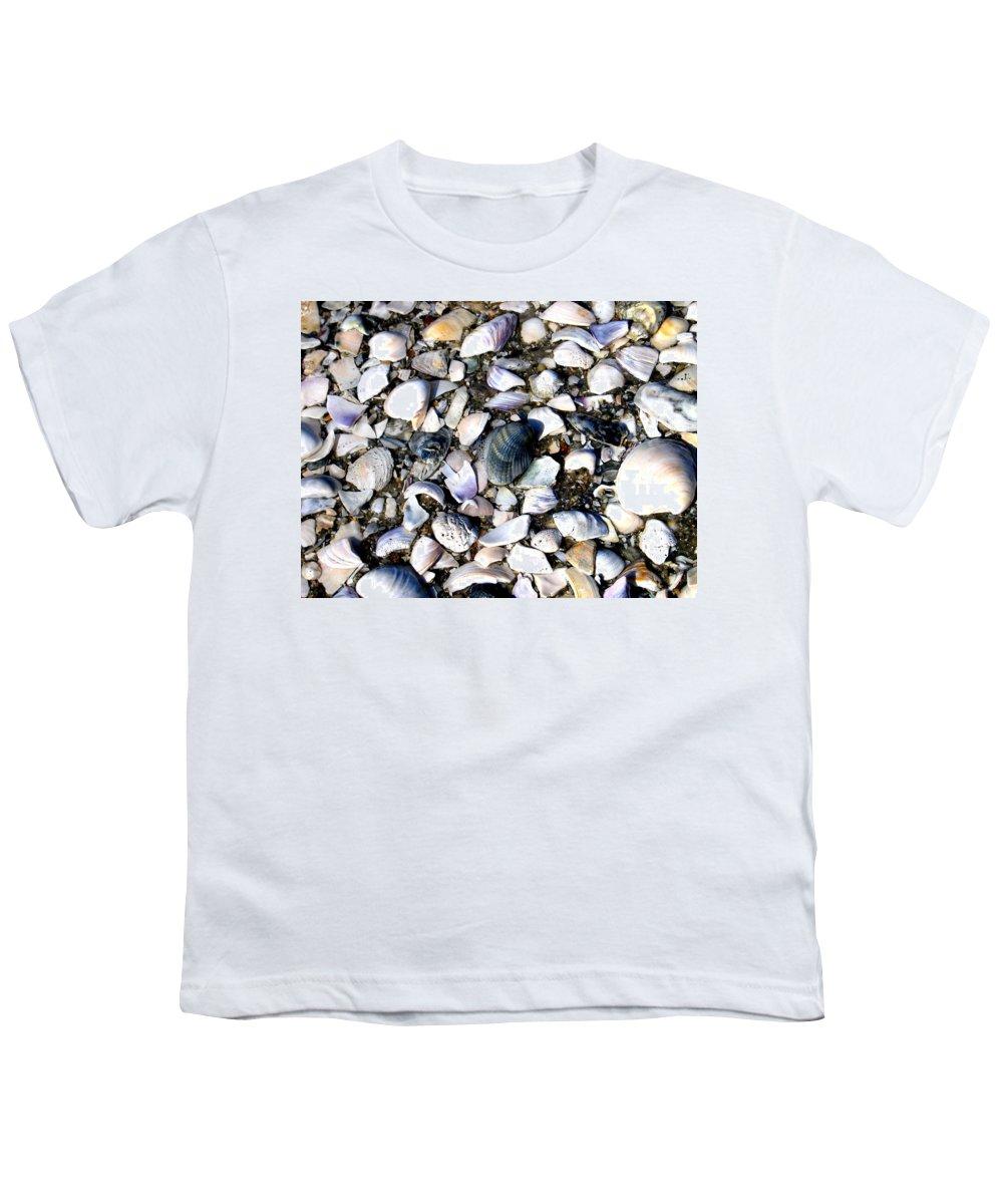 Ocracoke Youth T-Shirt featuring the photograph Ocracoke Shells by Wayne Potrafka