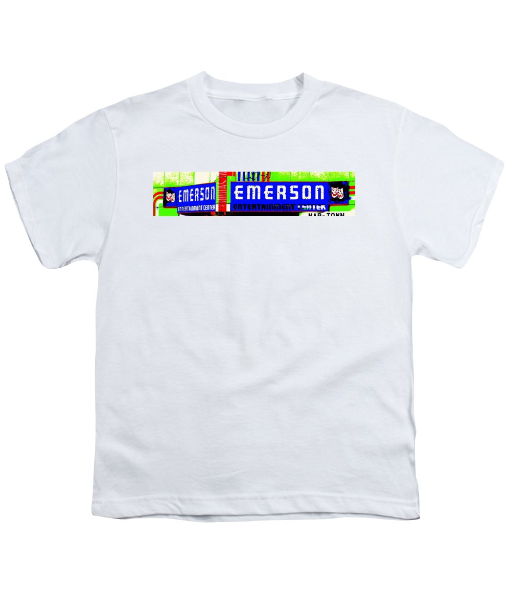 Music Youth T-Shirt featuring the photograph Old Theater by Ed Smith