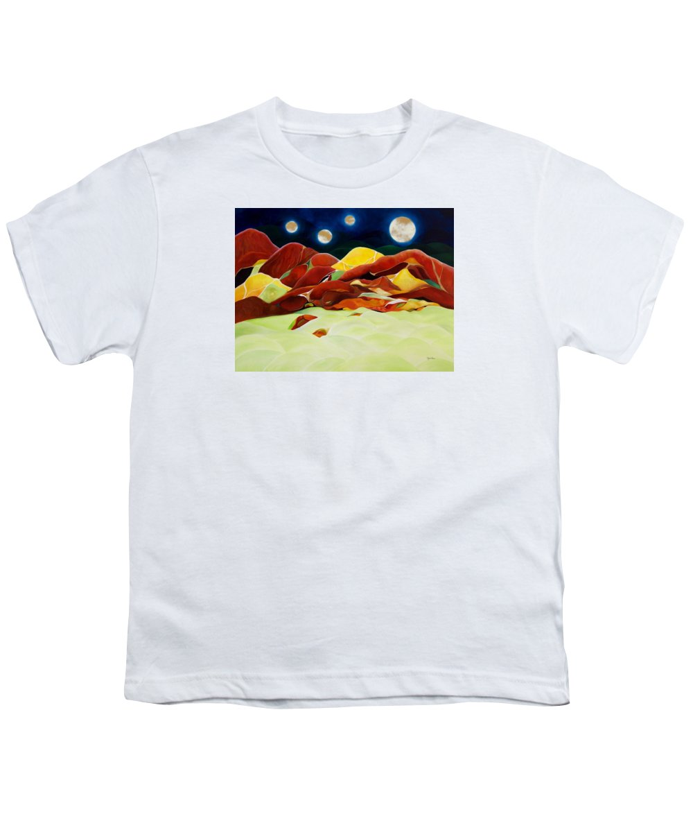 Oil Youth T-Shirt featuring the painting One Step Up From Third by Peggy Guichu