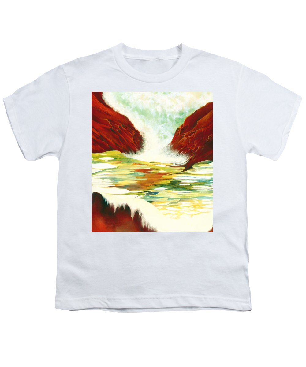Oil Youth T-Shirt featuring the painting Overflowing by Peggy Guichu