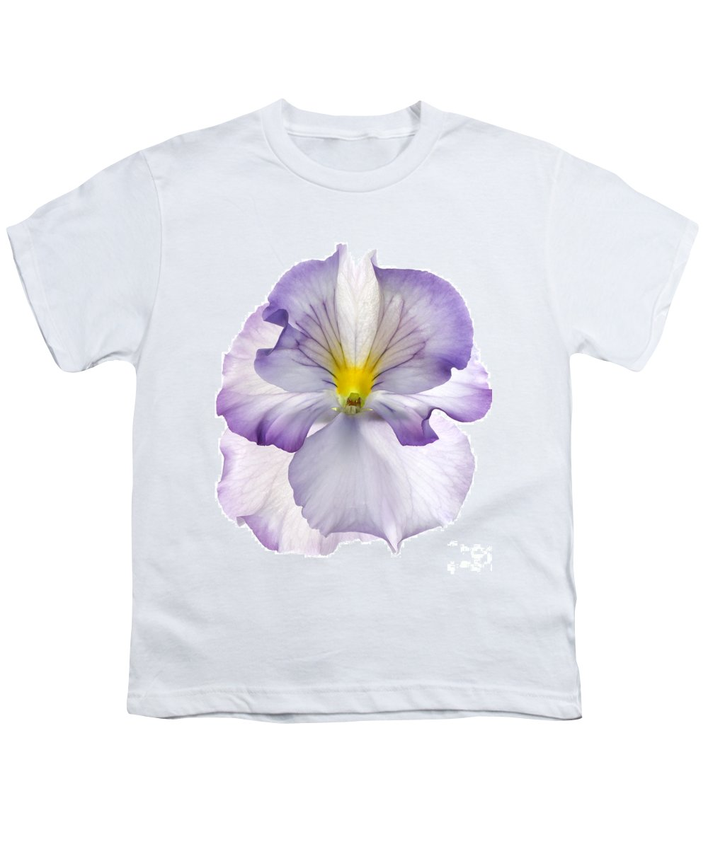 Pansy Genus Viola Youth T-Shirt featuring the photograph Pansy by Tony Cordoza