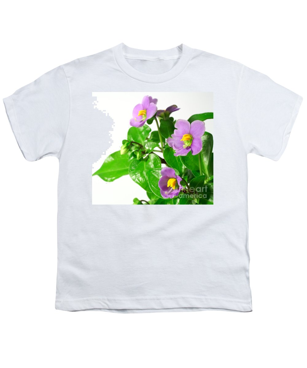 Closeup Youth T-Shirt featuring the photograph Persian Violets by Gaspar Avila