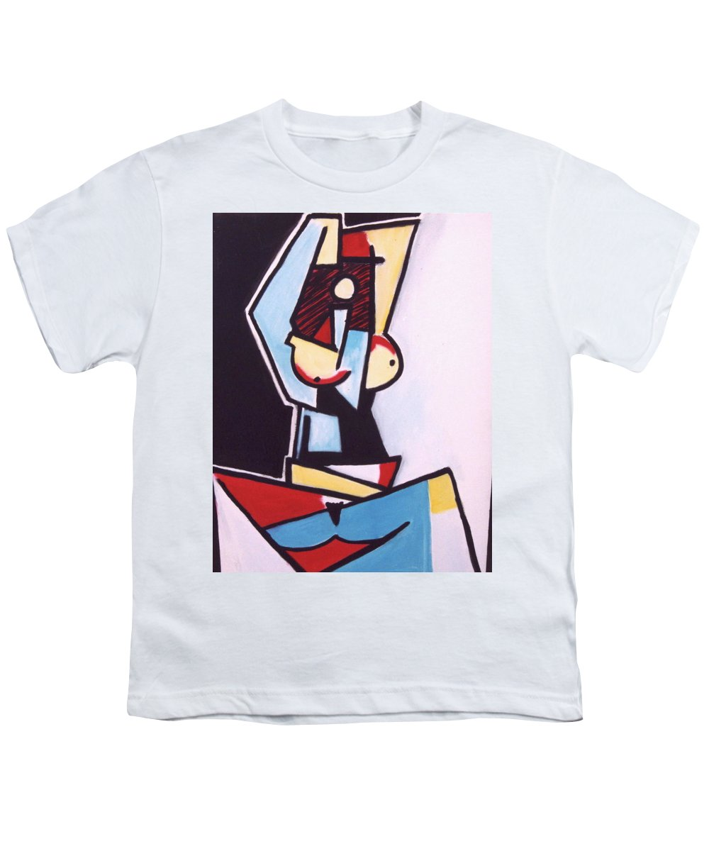 Picasso Youth T-Shirt featuring the painting Picasso by Thomas Valentine