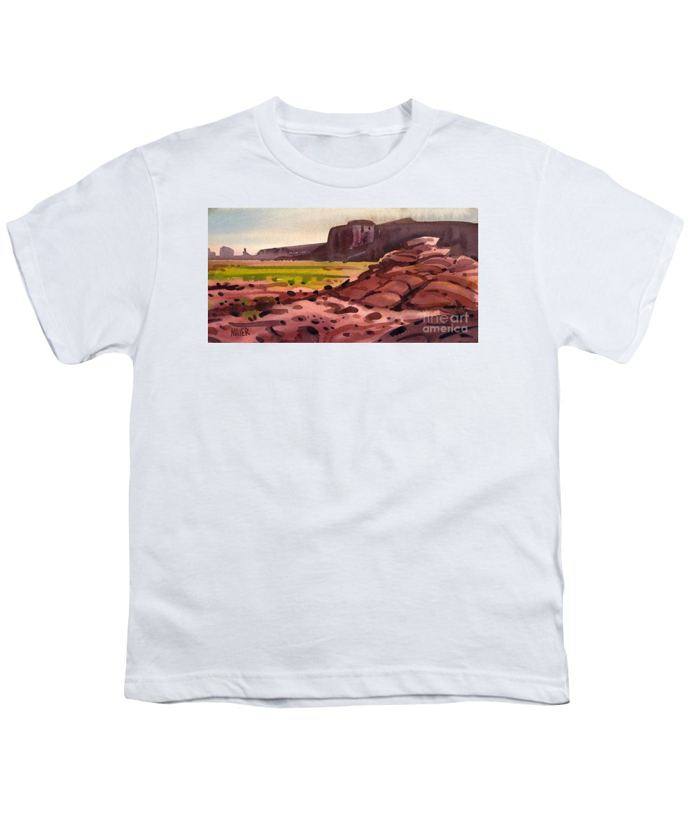 Monument Valley Youth T-Shirt featuring the painting Pillow Rocks by Donald Maier