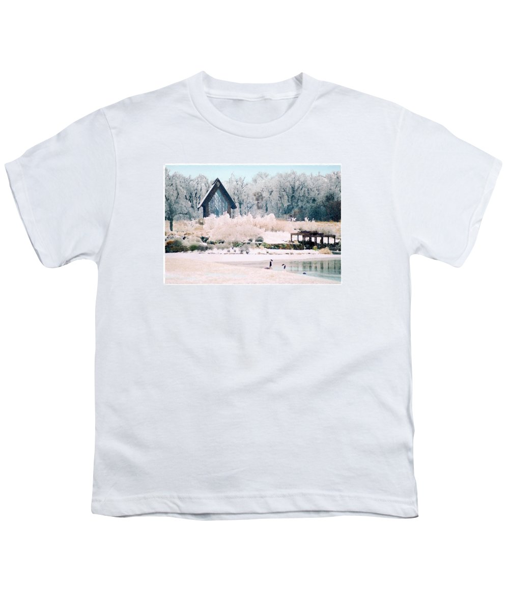 Landscape Youth T-Shirt featuring the photograph Powell Gardens Chapel by Steve Karol