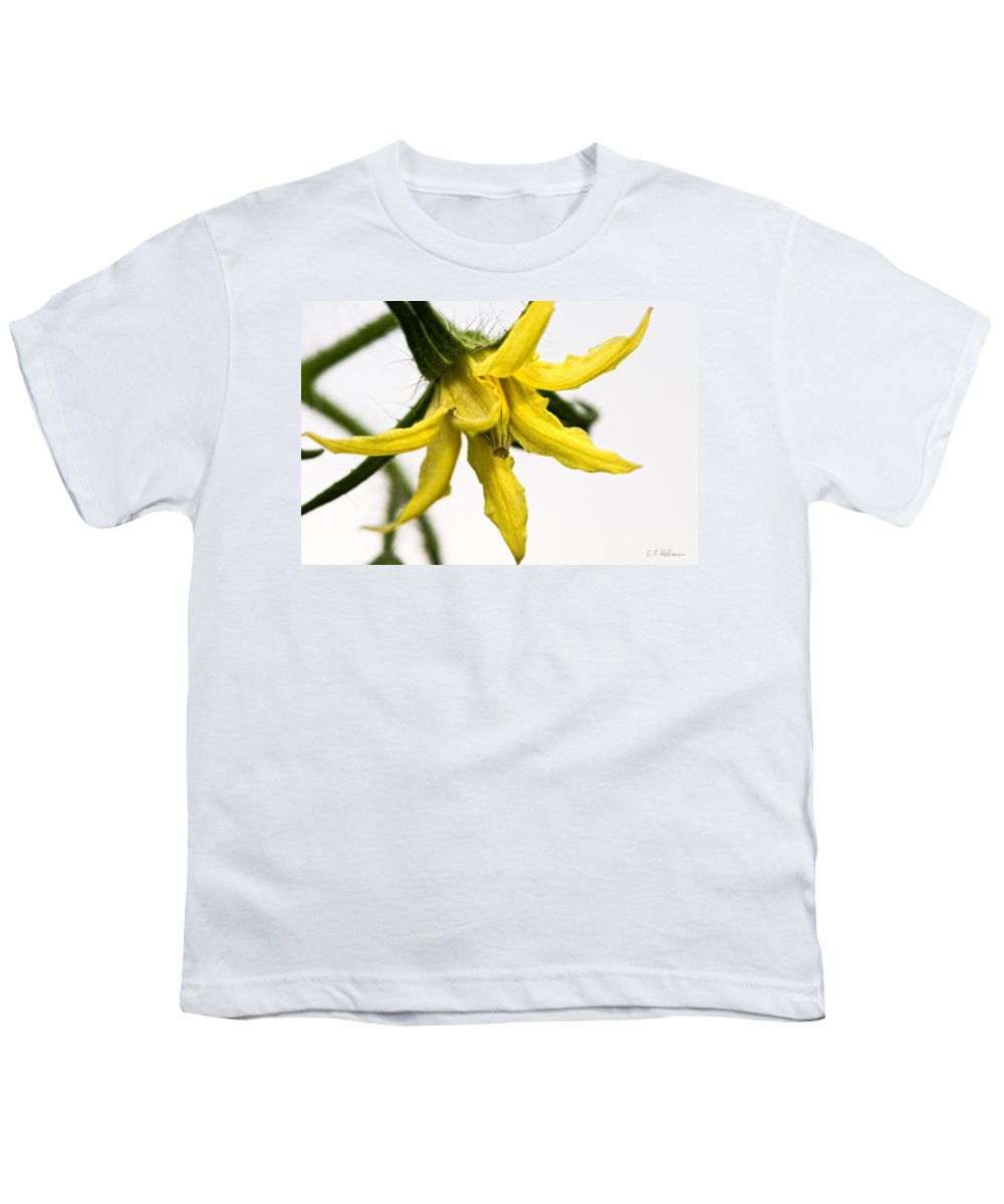 Tomato Youth T-Shirt featuring the photograph Pre-tomato by Christopher Holmes