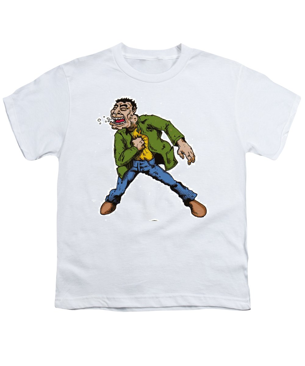 Illustration Youth T-Shirt featuring the drawing Punch by Tobey Anderson