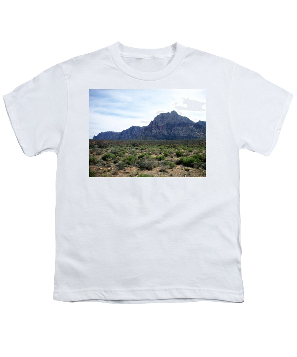 Red Rock Canyon Youth T-Shirt featuring the photograph Red Rock Canyon 3 by Anita Burgermeister
