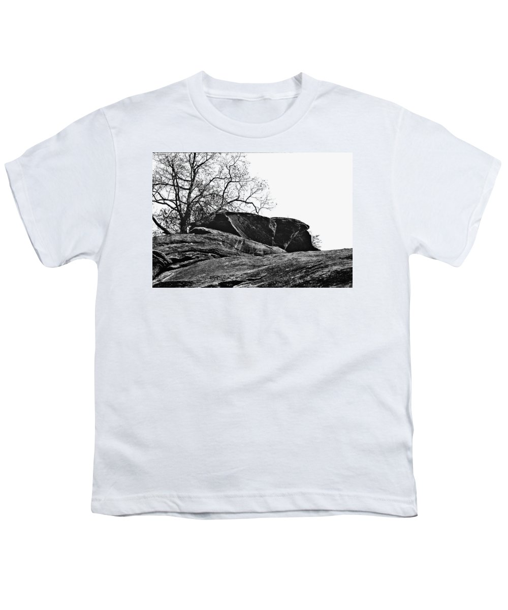 Landscape Youth T-Shirt featuring the photograph Rock Wave by Steve Karol