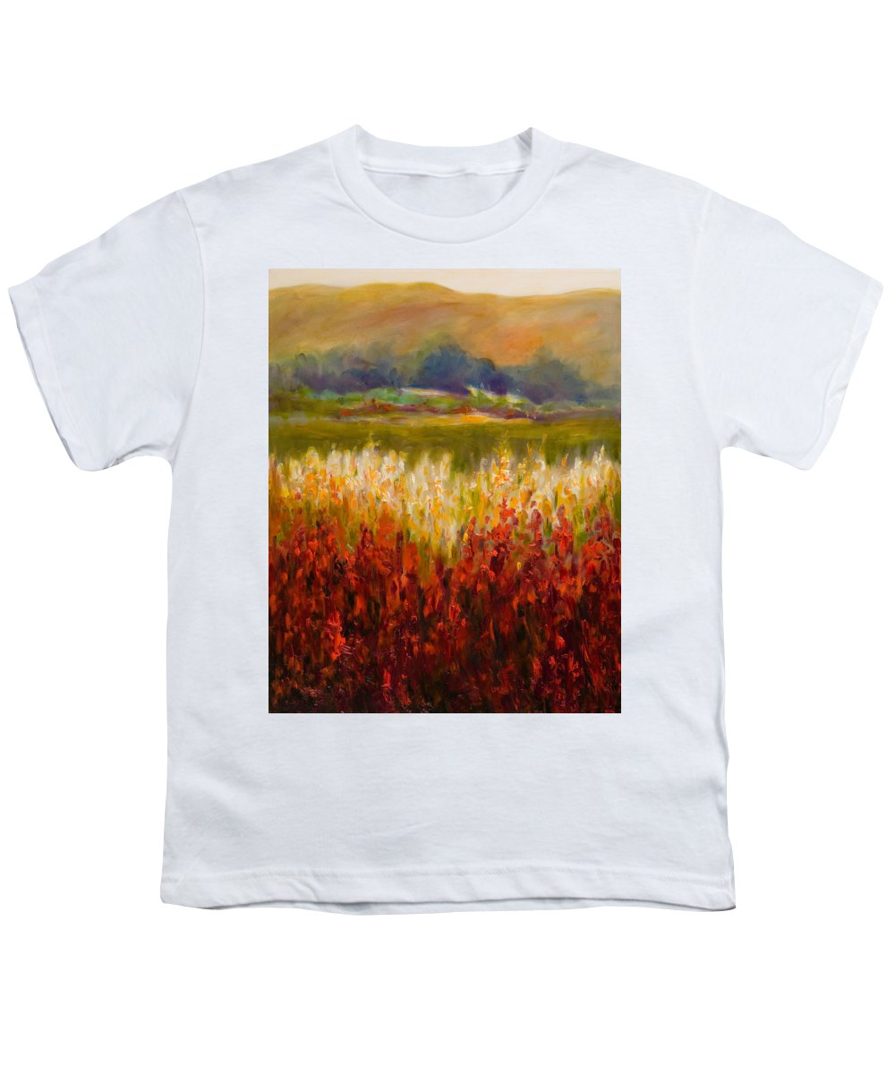 Landscape Youth T-Shirt featuring the painting Santa Rosa Valley by Shannon Grissom