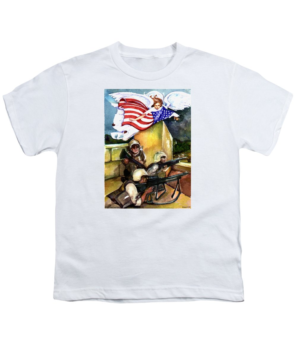 Elle Fagan Youth T-Shirt featuring the painting Semper Fideles - Iraq by Elle Smith Fagan
