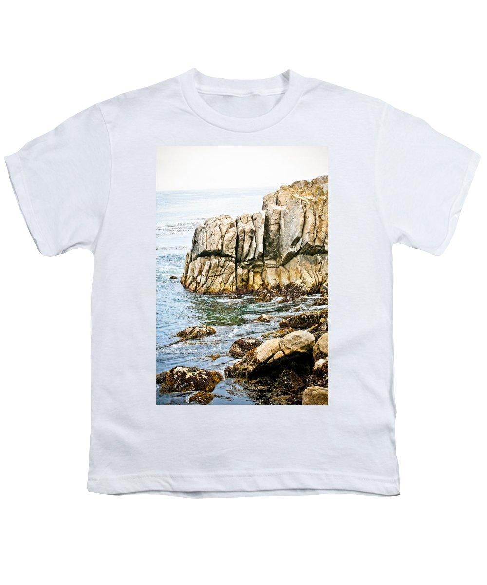 Pebble Beach Youth T-Shirt featuring the photograph Shores Of Pebble Beach by Marilyn Hunt
