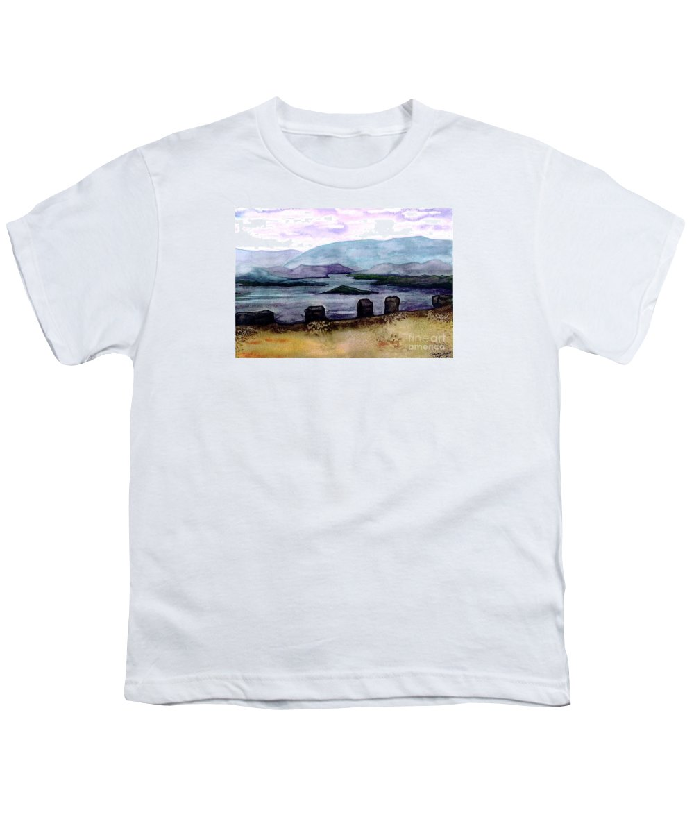Original Painting Youth T-Shirt featuring the painting Silent Sentinels by Patricia Griffin Brett