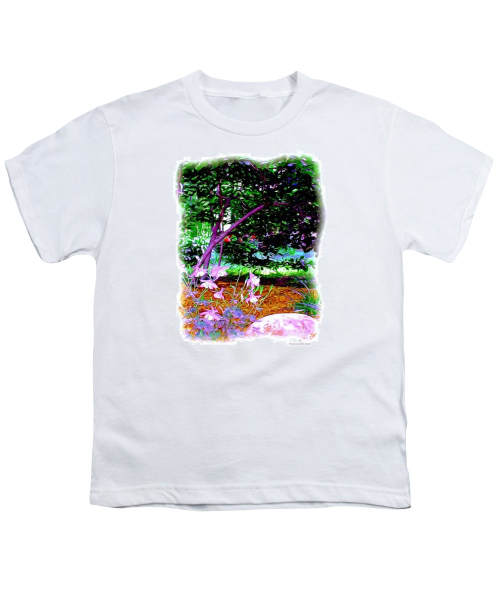 Fine Art Youth T-Shirt featuring the painting Sitting In The Shade by Patricia Griffin Brett