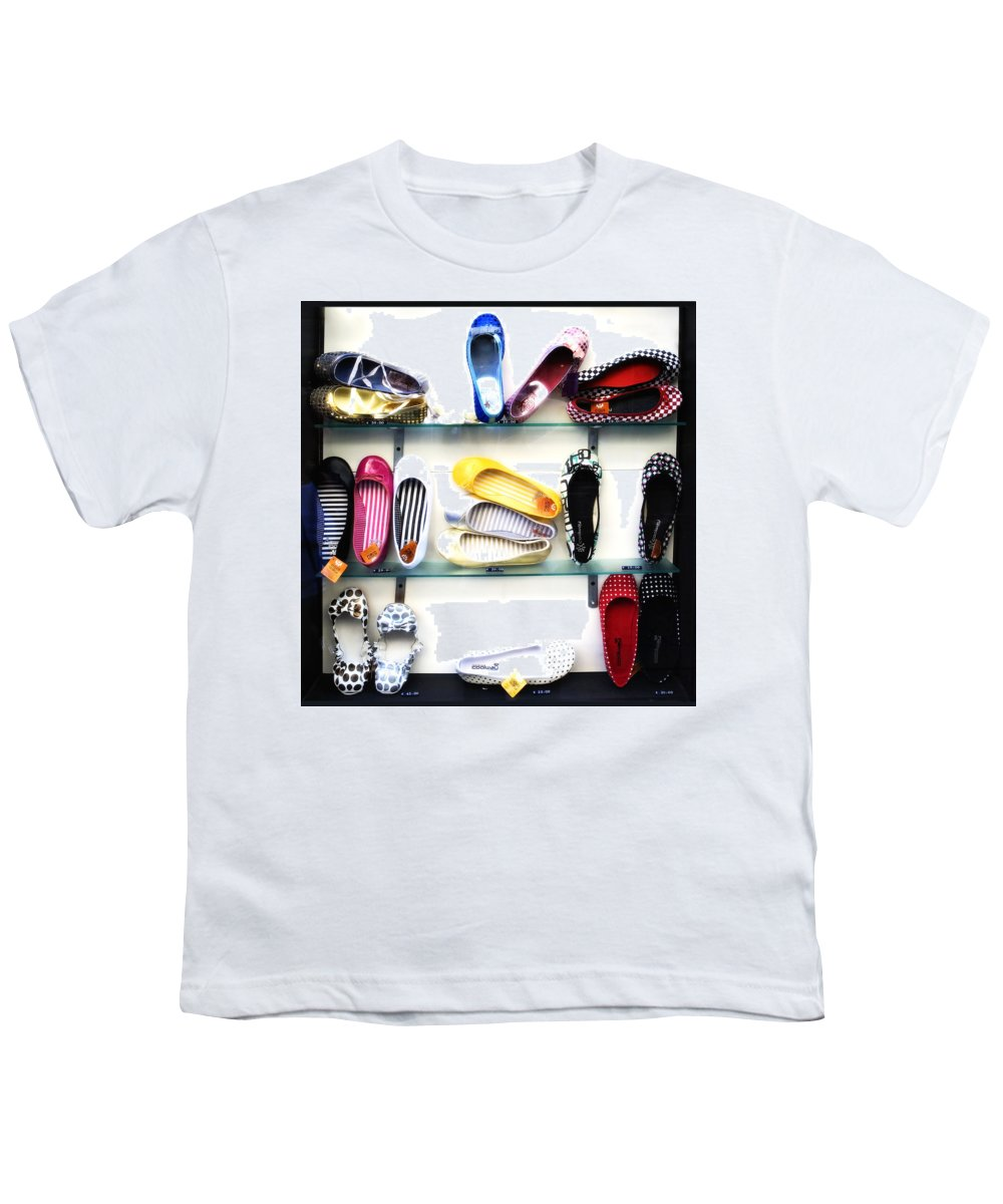 Shoes Youth T-Shirt featuring the photograph So Many Shoes... by Marilyn Hunt