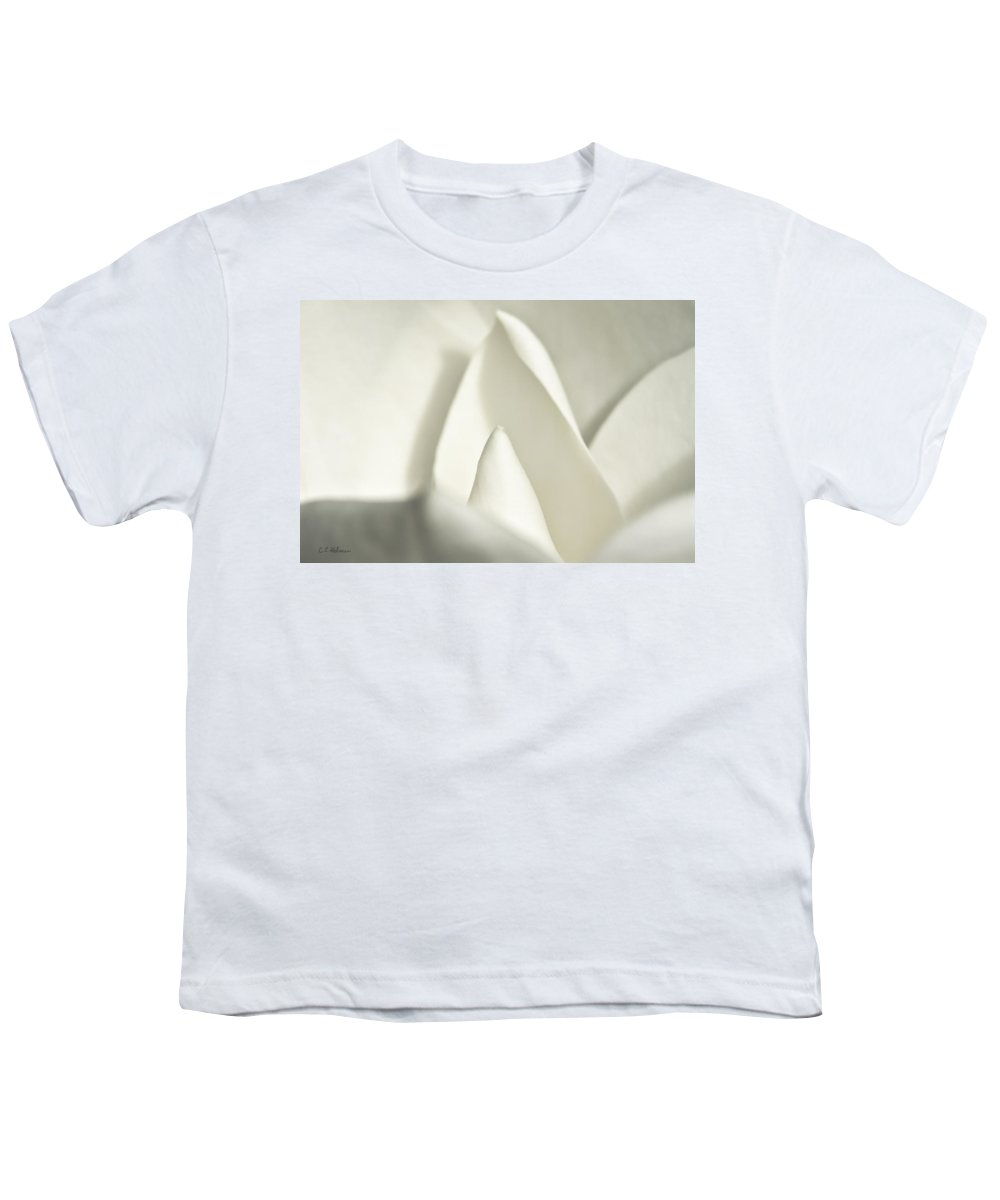 Magnolia Youth T-Shirt featuring the photograph Soft Magnolia by Christopher Holmes