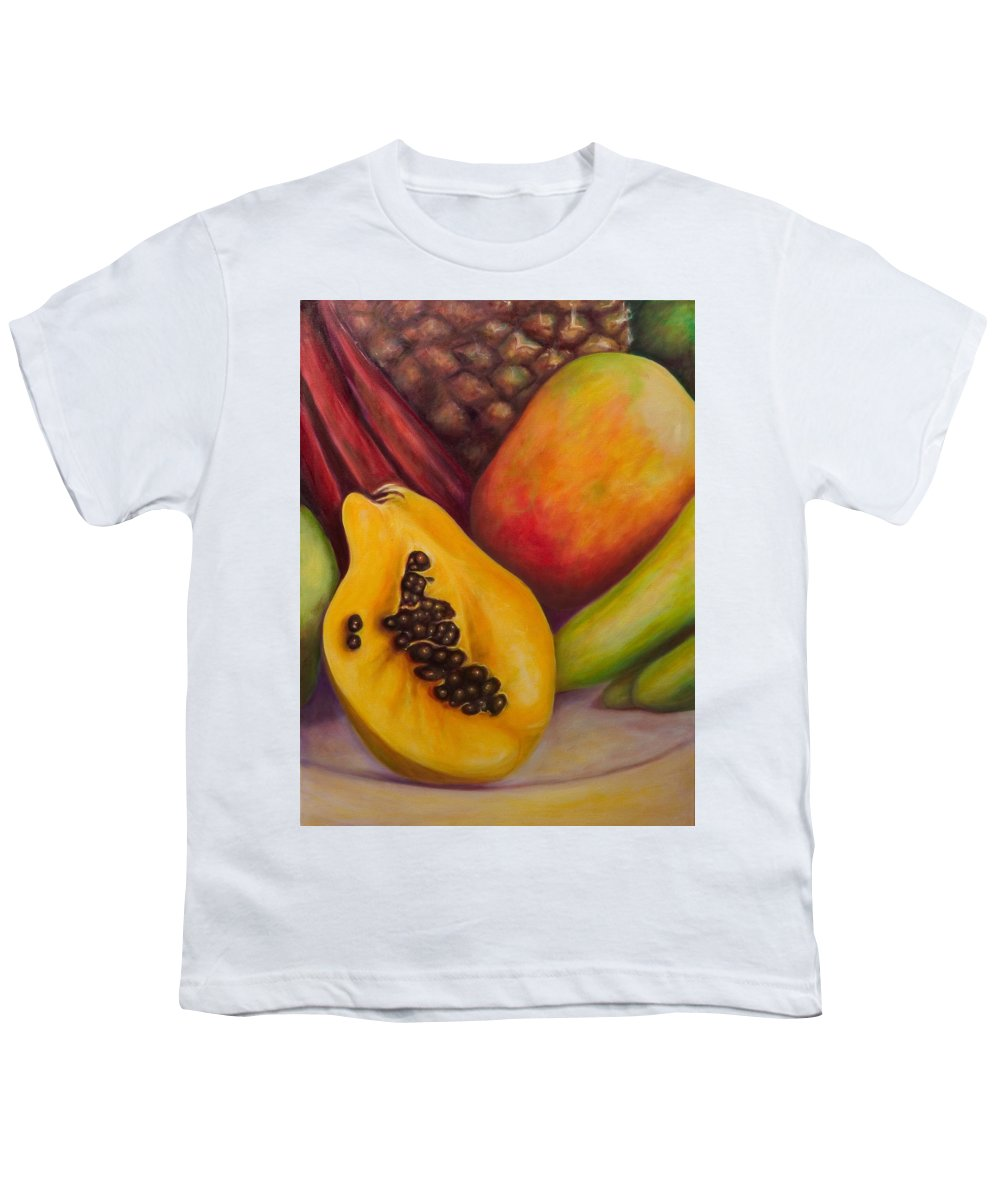 Tropical Fruit Still Life: Mangoes Youth T-Shirt featuring the painting Solo by Shannon Grissom