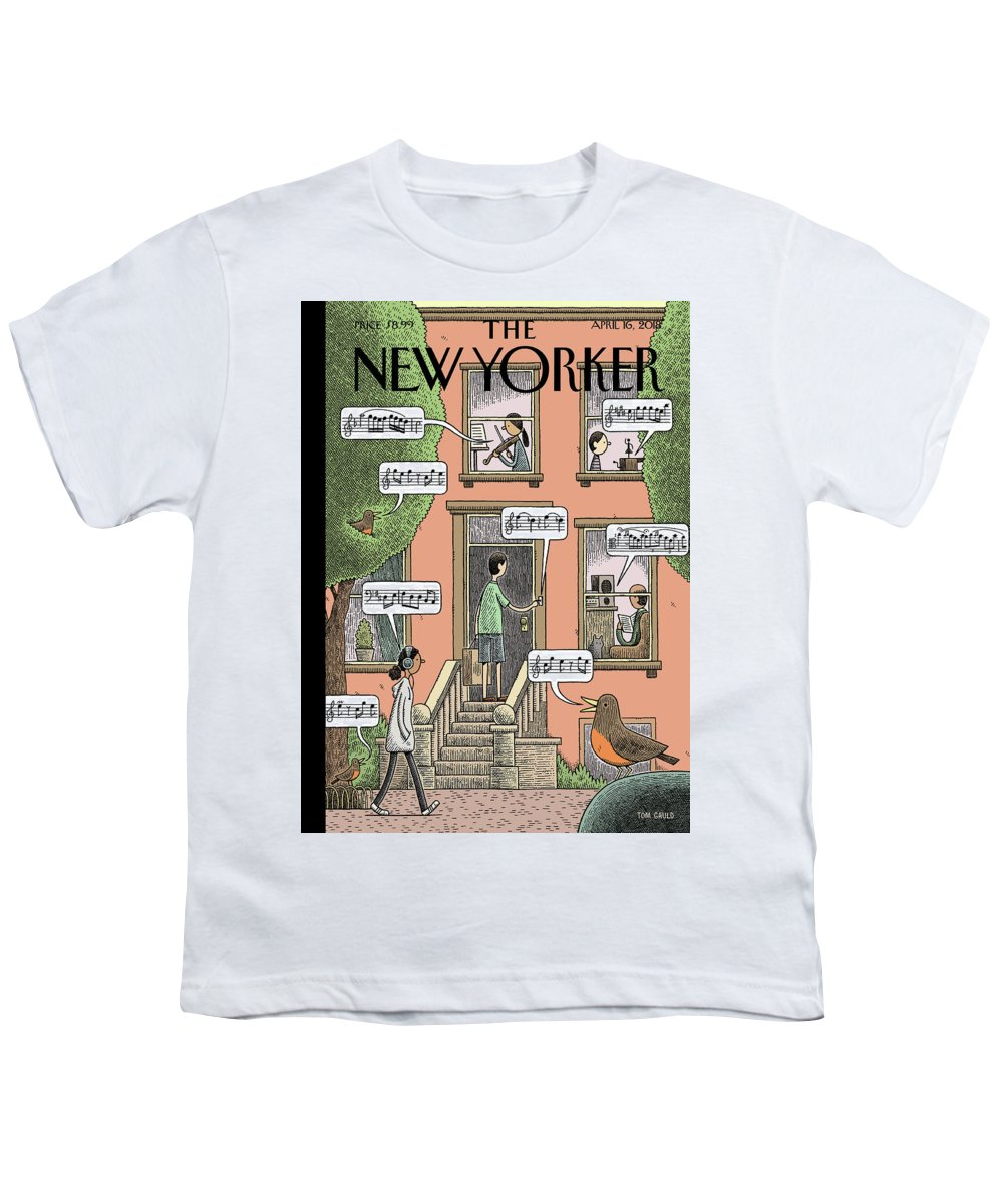 Soundtrack To Spring Youth T-Shirt featuring the painting Soundtrack to Spring by Tom Gauld