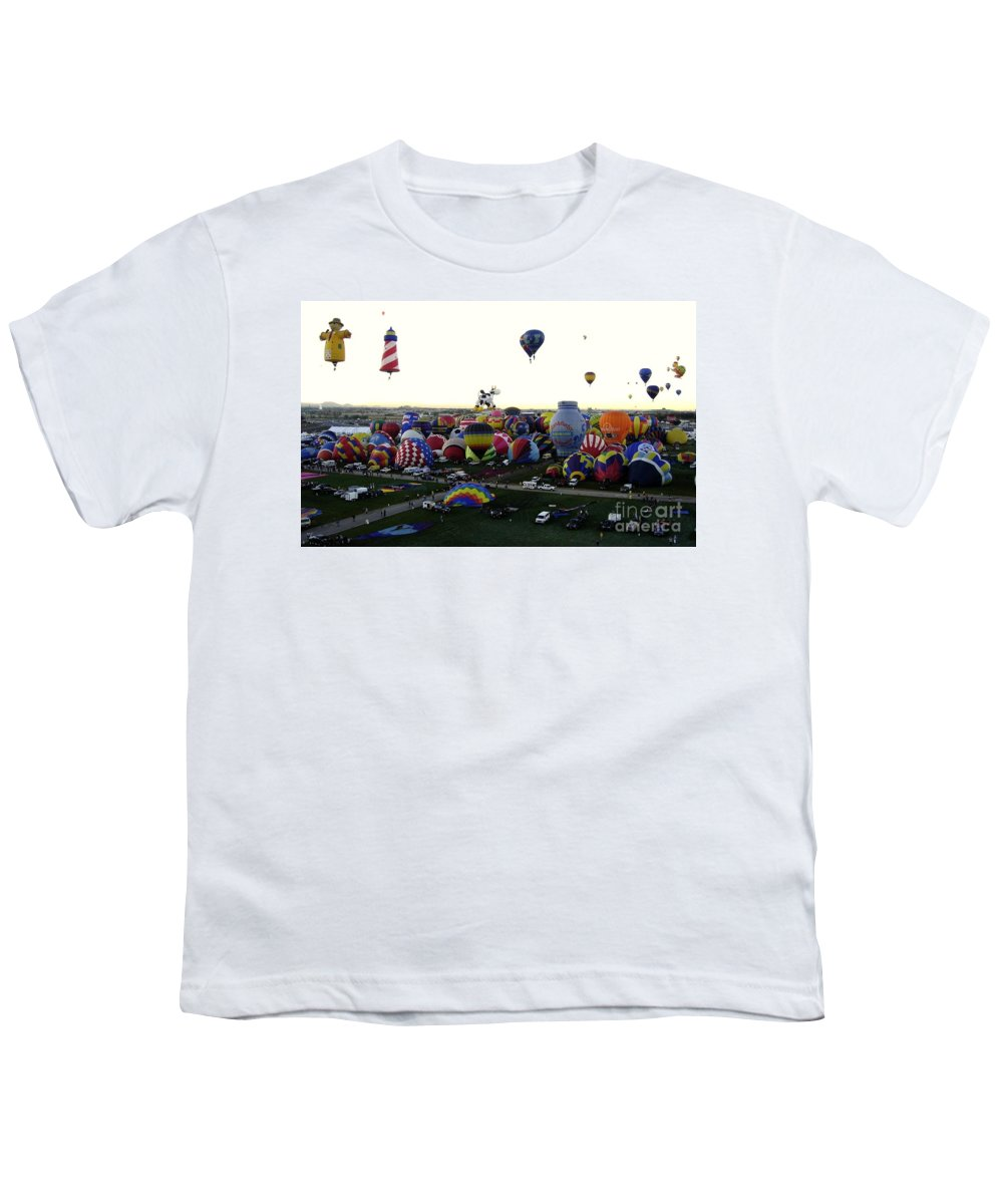 Hot Air Balloons Youth T-Shirt featuring the photograph Special Shapes by Mary Rogers