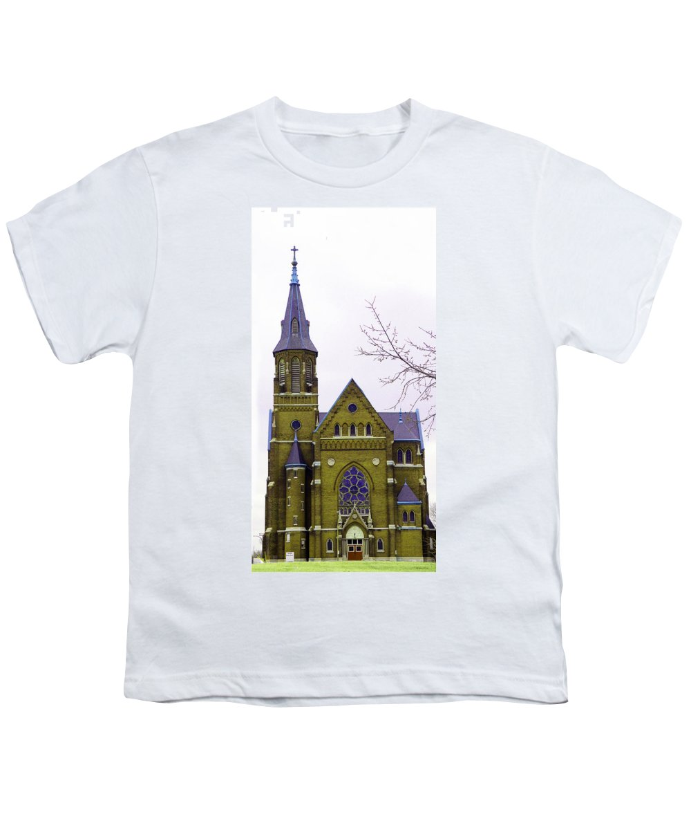 Spire Youth T-Shirt featuring the photograph Spire by Albert Stewart