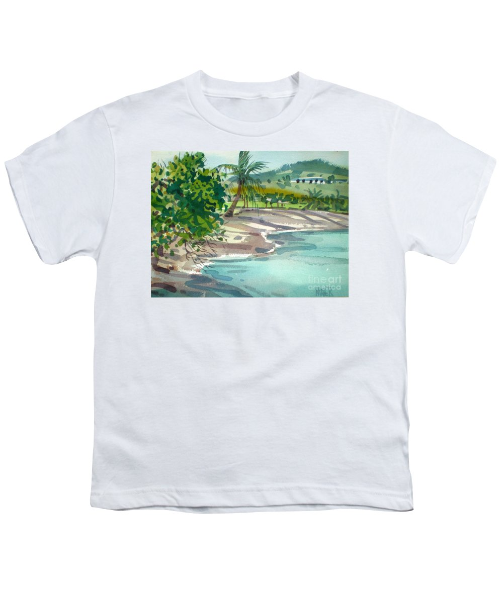St. Croix Youth T-Shirt featuring the painting St. Croix Beach by Donald Maier