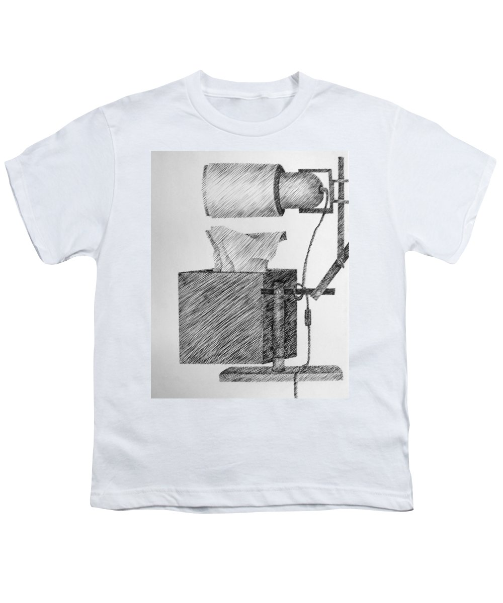 Still Life Youth T-Shirt featuring the drawing Still Life With Lamp And Tissues by Michelle Calkins