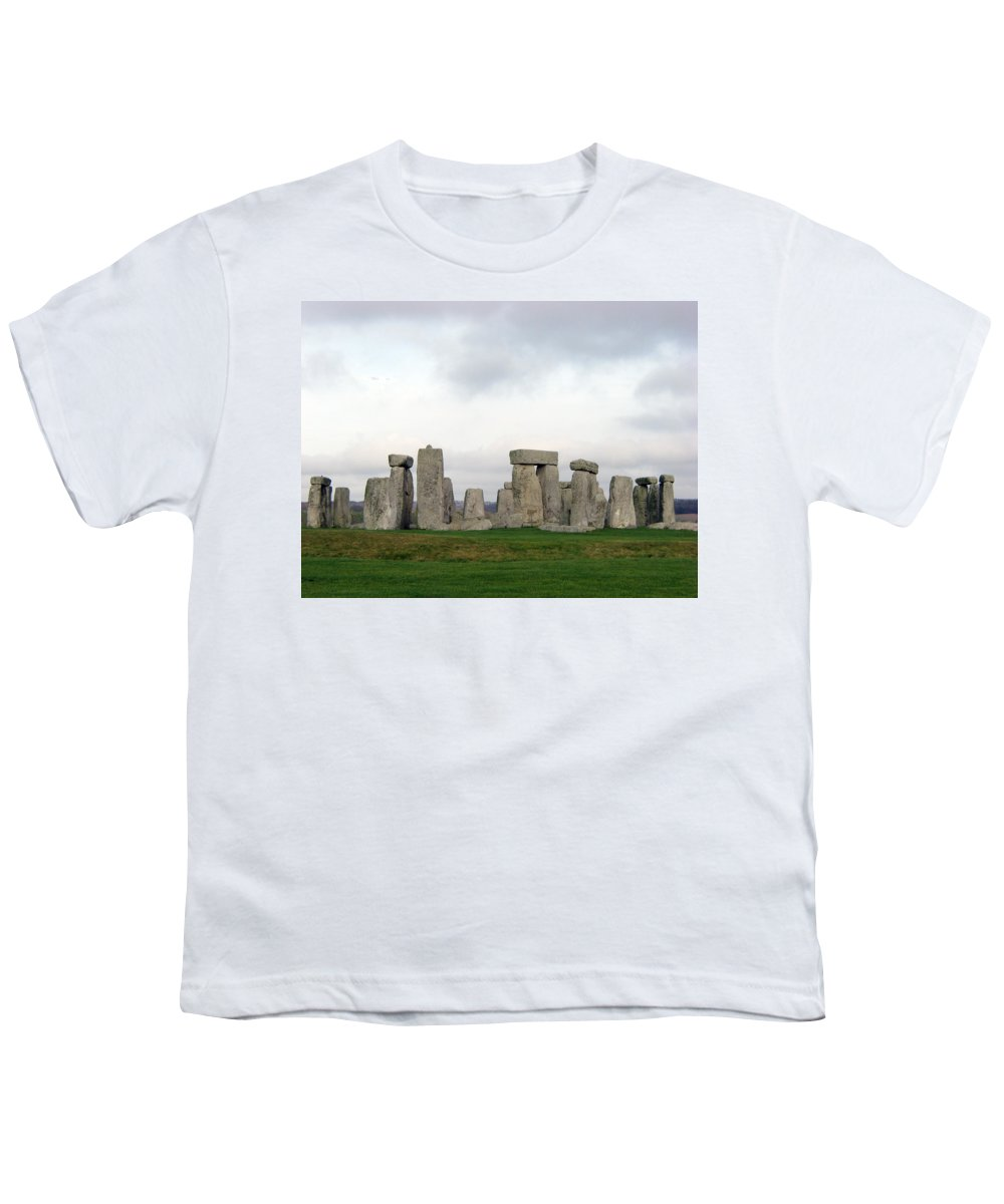 Stonehenge Youth T-Shirt featuring the photograph Stonehenge by Amanda Barcon