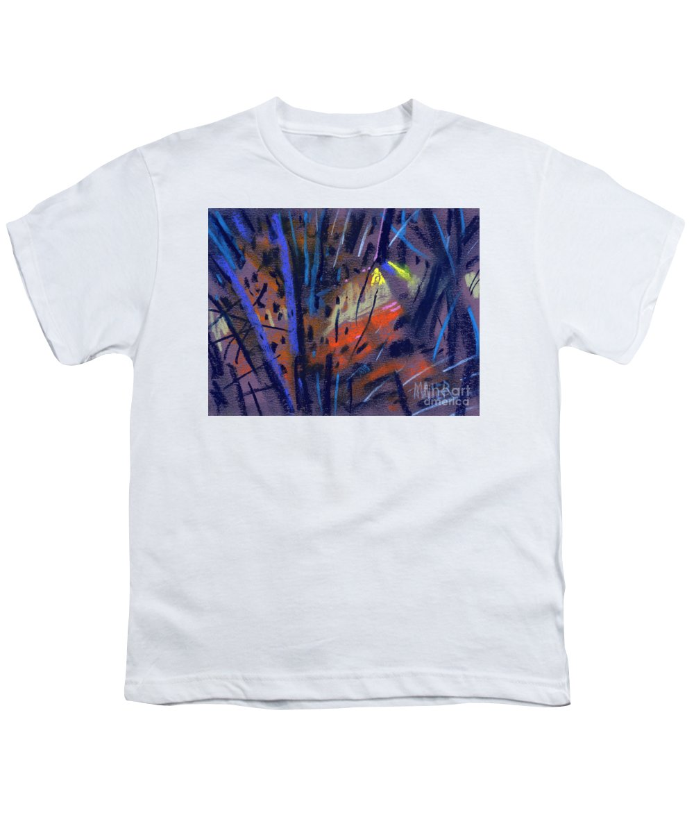 Abstract Youth T-Shirt featuring the drawing strange Lights by Donald Maier