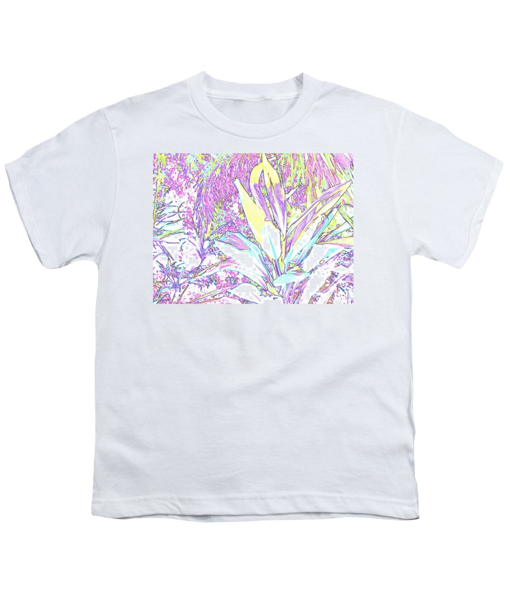 Abstract Youth T-Shirt featuring the photograph Subtle Leaf by Ian MacDonald