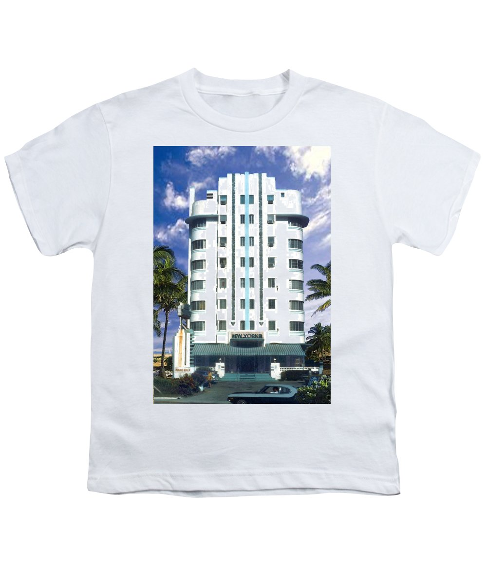 Miami Youth T-Shirt featuring the photograph The New Yorker by Steve Karol