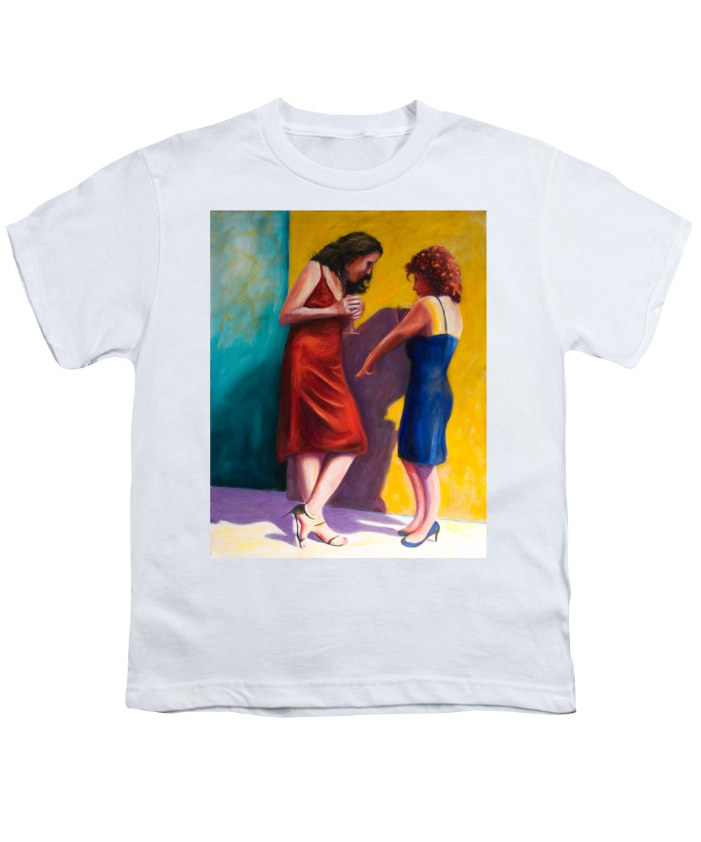 Figurative Youth T-Shirt featuring the painting There by Shannon Grissom