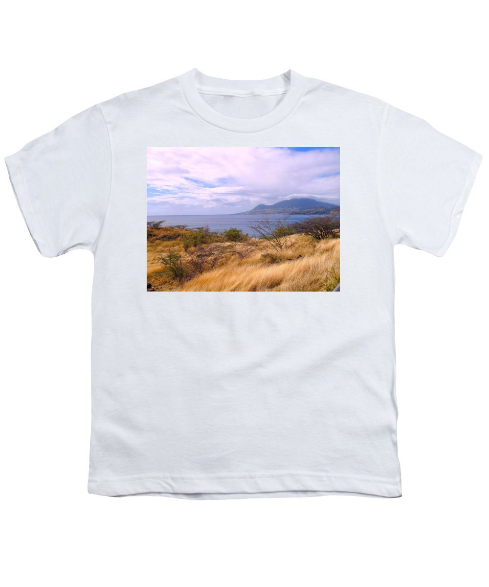 St Kitts Youth T-Shirt featuring the photograph Towards Basseterre by Ian MacDonald