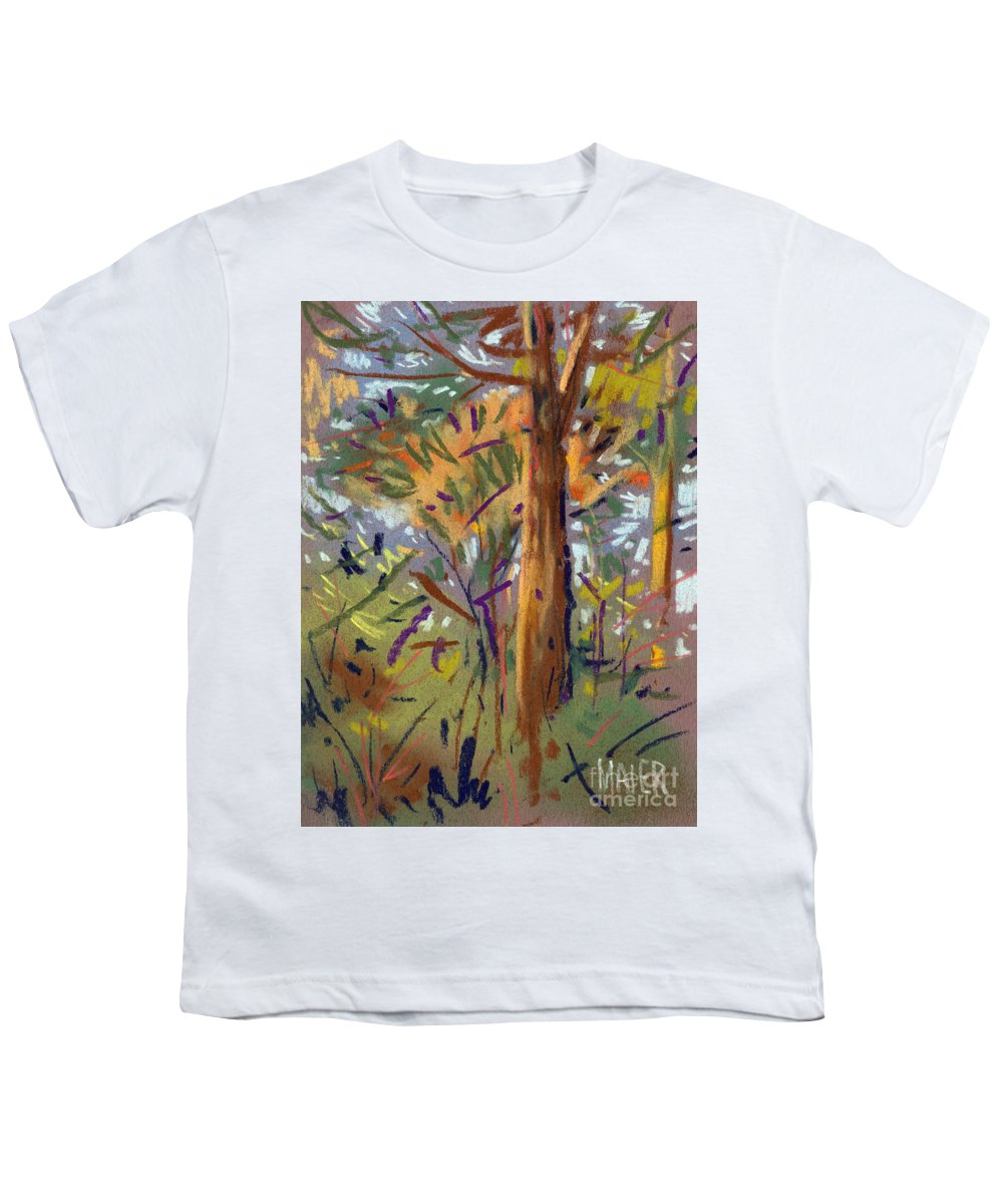 Trees Youth T-Shirt featuring the drawing Tree Sketch by Donald Maier