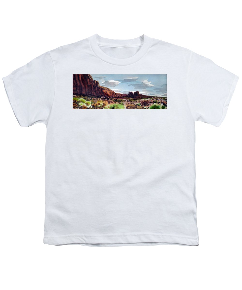 Horses Youth T-Shirt featuring the painting Two Mustangs by Donald Maier
